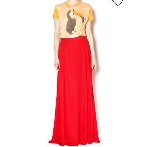 Show Me Your Mumu red Princess Di maxi skirt